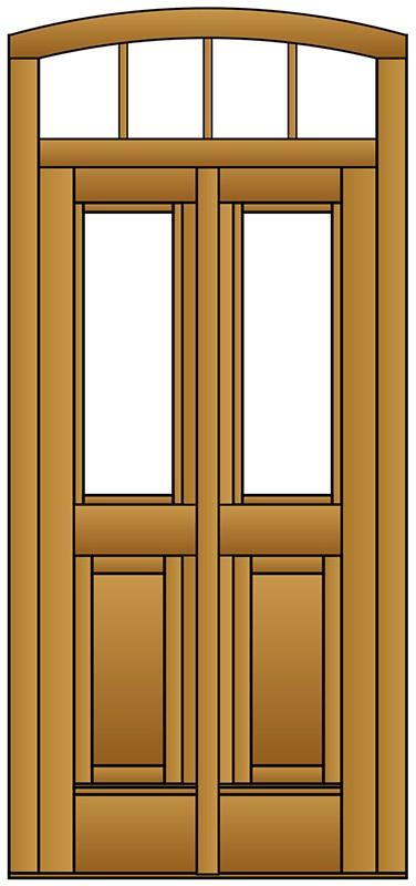 haust r altenberge aus massivholz mit dekorbogen und wiener sprossen. Black Bedroom Furniture Sets. Home Design Ideas