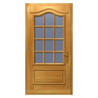 """Haustür """"Astrup"""" aus Massivholz mit Dekorbogen und Sprossen"""