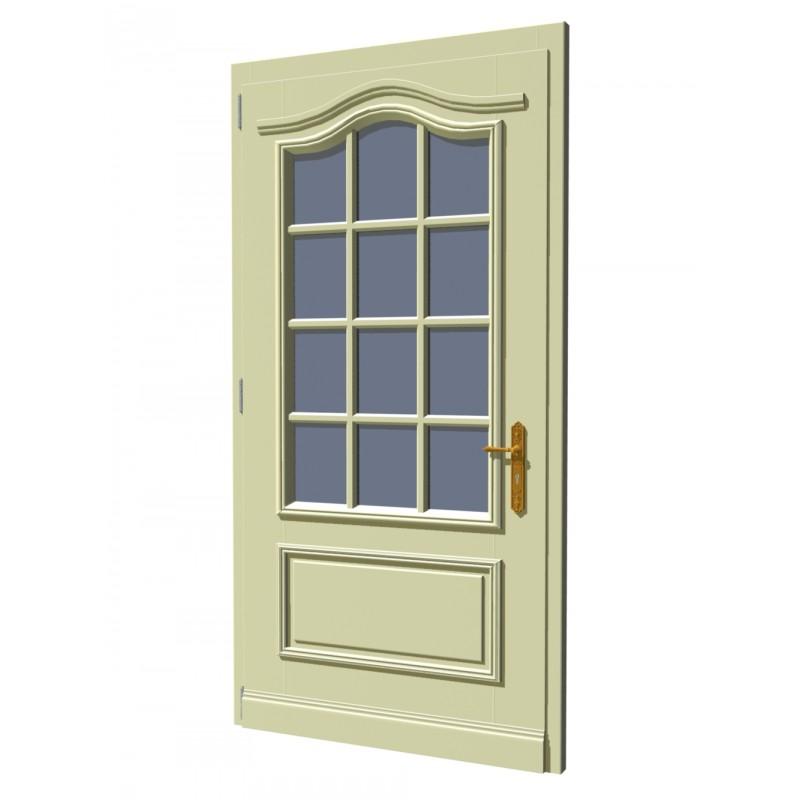 haust r astrup aus massivholz mit dekorbogen und sprossen. Black Bedroom Furniture Sets. Home Design Ideas