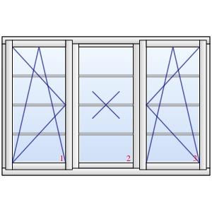 dreifl geliges holzfenster darmstadt mit wiener sprossen. Black Bedroom Furniture Sets. Home Design Ideas