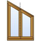 Holzfenster dreieckig
